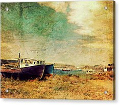 Boat Dreams On A Hill Acrylic Print