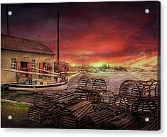 Boat - End Of The Season  Acrylic Print by Mike Savad