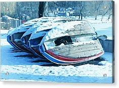 Boat Hire On Holiday Acrylic Print by Jutta Maria Pusl