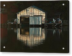 Boat House Effects Acrylic Print by Tammy Schneider