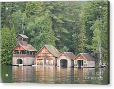 Acrylic Print featuring the photograph Boat House by George Mount
