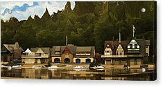 Boat House Row Acrylic Print by Trish Tritz