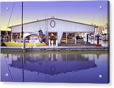 Acrylic Print featuring the photograph Boat House by Sonya Lang