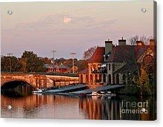 Boat Houses At Dawn Acrylic Print