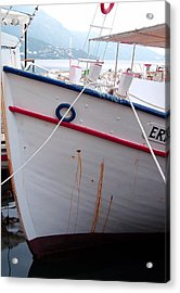 Boat Hull Acrylic Print by Tamyra Crossley