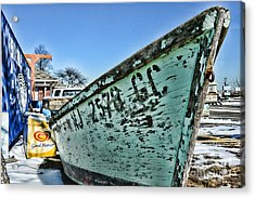 Boat - In A State Of Decay Acrylic Print by Paul Ward