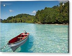 Boat In Lagoon Acrylic Print