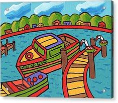 Boat In The Bayou - Cedar Key Acrylic Print