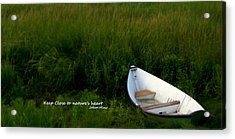 Acrylic Print featuring the photograph Boat In The Marsh by Caroline Stella