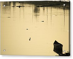 Boat In The Water Acrylic Print by Rajiv Chopra