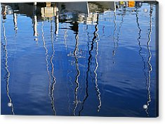 Boat Lightning - Photography By William Patrick And Sharon Cummings Acrylic Print