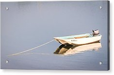 Acrylic Print featuring the photograph Boat Mooring by Dawn Romine