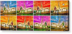 Boat Of A Different Color Acrylic Print by Betsy Knapp