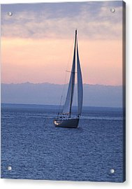 Boat On Lake Michigan Acrylic Print by Susan Crossman Buscho