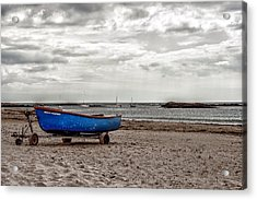 Boat On The Beach At Rhosneigr Anglesey Acrylic Print by Georgia Fowler