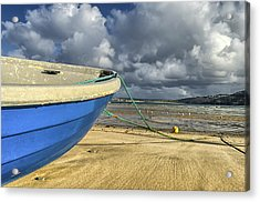 Blue Boat At St Ives Acrylic Print