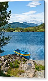 Boat On Upper Lake Killarney Acrylic Print by Jane McIlroy