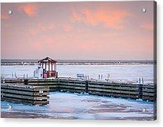 Boat Pier Lake Michigan Acrylic Print