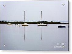 Boat Reflections Acrylic Print by John Rizzuto