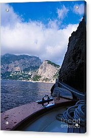 Acrylic Print featuring the photograph Boat Ride To Capri by Mike Ste Marie