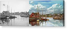 Boat - Rockport Mass - Motif Number One - 1906 - Side By Side Acrylic Print by Mike Savad