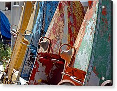 Acrylic Print featuring the photograph Boat Row by Allen Carroll