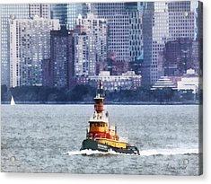 Boat - Tugboat By Manhattan Skyline Acrylic Print