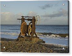 Boat Winch 1 Acrylic Print by Steev Stamford