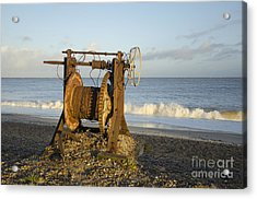 Boat Winch 2 Acrylic Print by Steev Stamford