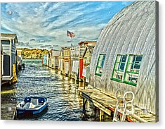 Boathouse Alley Acrylic Print by William Norton