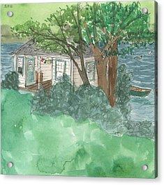 Boathouse At Ananda Acrylic Print