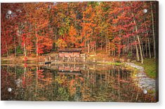 Boathouse At Boley Lake Acrylic Print