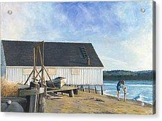 Boathouse At Lisabuela Beach Acrylic Print by Nick Payne
