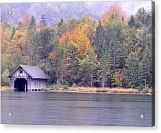 Boathouse On The Koenigsee Acrylic Print
