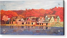 Boathouse Row Acrylic Print by Andrew Hench