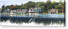 Boathouse Row At The Waterfront Acrylic Print
