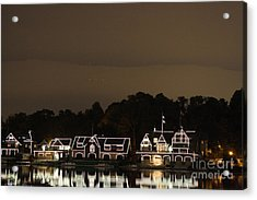 Boathouse Row Acrylic Print by Christopher Woods
