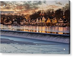 Boathouse Row Philadelphia Pa Acrylic Print by Susan Candelario