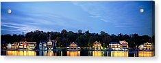 Boathouse Row Philadelphia Pennsylvania Acrylic Print by Panoramic Images