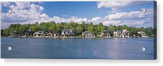Boathouses Near The River, Schuylkill Acrylic Print