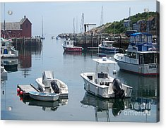 Acrylic Print featuring the photograph Boats On The Water by Eunice Miller