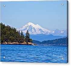 Boating On Puget Sound Acrylic Print by Chuck Flewelling