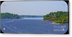 Boating On The Severn River Acrylic Print by Patti Whitten