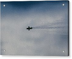 Boating Through The Clouds Acrylic Print by Omaste Witkowski