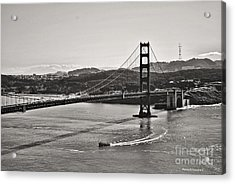 Boating Under The Golden Gate Acrylic Print