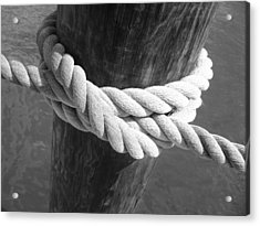 Acrylic Print featuring the photograph Boatman's Knot by Ellen Tully