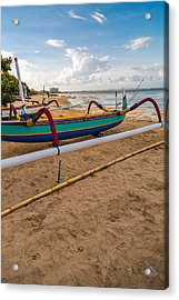 Acrylic Print featuring the photograph Boats - Bali by Matthew Onheiber