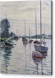 Boats Anchored On The Seine Acrylic Print