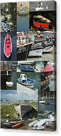 Boats Around The World Acrylic Print by Helen Worley