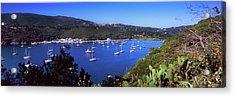 Boats At A Harbor, Porto Azzurro Acrylic Print